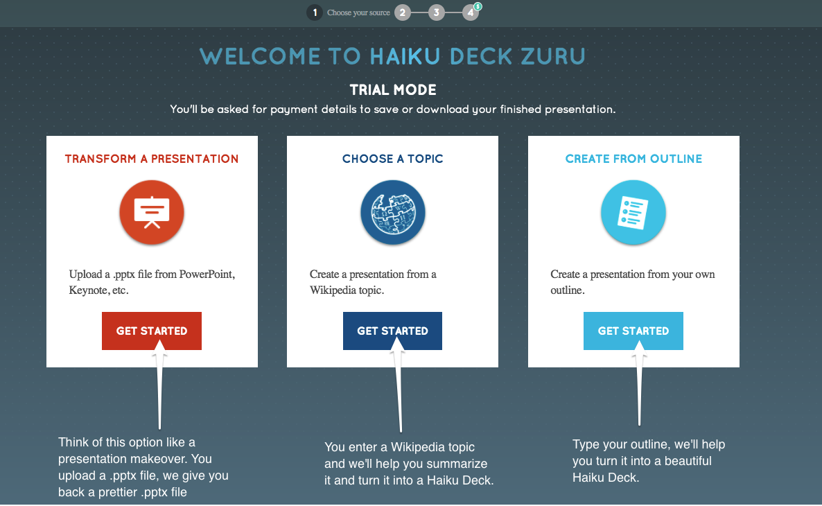 three ways to automatically create presentations with haiku deck